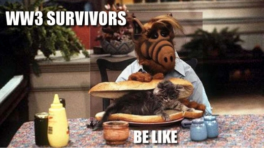 Alf eats a cat sandwich after surviving World War 3!?