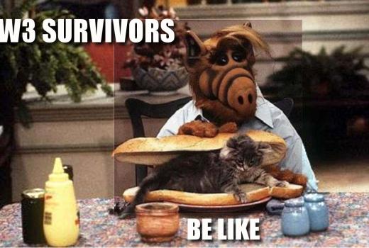 Alf eats a cat sandwich after surviving World War 3!?